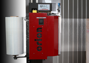 Orion Packaging InstaThread-S powered prestretch film delivery system