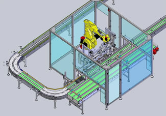 KLEENPac Robotic Case Packing System from KLEENLine